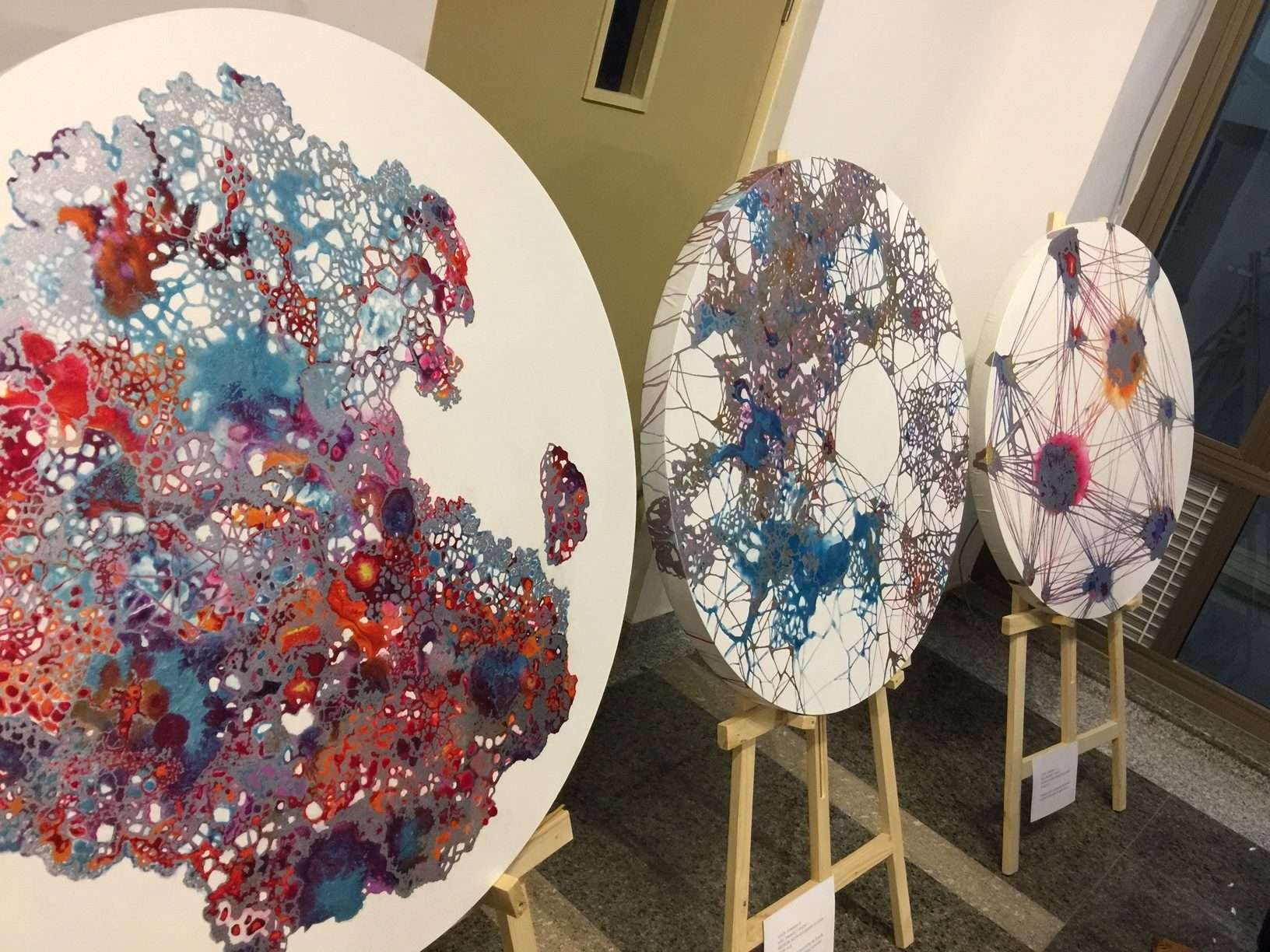 Contemporary Artist Dhara Mehrotra's installations based on fungal networks she observed as part of NCBS Artists in Residence Program:  Gosamer